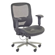 Safco Lineage Big & Tall All-Mesh Task Chair, 400 lb. Weight Capacity - 3505