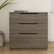 Nexera Arobas 3-Drawer Storage and Filing Cabinet, Bark Grey - 600344