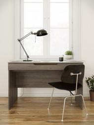 Nexera  Arobas Desk with Drawer, Bark Grey - 601844