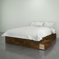 Nexera Full Size Storage Platform Bed, 3-Drawer, Truffle - 375412