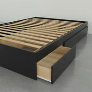 Nexera Full Size Storage Platform Bed, 3-Drawer, Black - 375406