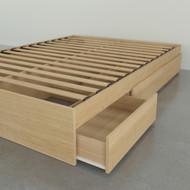Nexera Full Size Storage Platform Bed, 3-Drawer, Natural Maple - 375405
