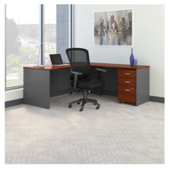 """Bush Business Furniture Series C Executive L-Shaped Desk Package 72"""" with High Back Chair - SRC131NCSU"""
