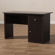 Wholesale Interiors Baxton Studio Belora Modern Wenge Brown Desk - MH6005