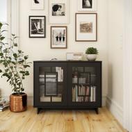 Nexera Paragon 2-Door Storage Cabinet, Black - 130206