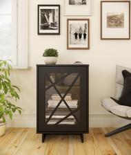 Nexera Paragon 1-Door Storage Cabinet, Black - 131106
