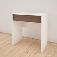 Nexera Vanity with mirror / Writing Desk, White and Walnut - 212703