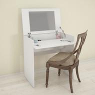 Nexera Vanity with mirror / Writing Desk, White - 221603