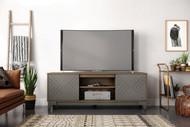 Nexera Arrow TV Stand, 72-inch, Nutmeg and Greige - 402336
