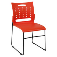 Flash Furniture HERCULES Series Sled Base Stack Chair with Air-Vent Back Orange - RUT-2-OR-GG