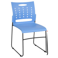 Flash Furniture HERCULES Series Sled Base Stack Chair with Air-Vent Back Blue - RUT-2-BL-GG
