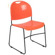 Flash Furniture HERCULES Series High Density Ultra Compact Stack Chair Orange - RUT-188-OR-GG