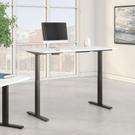 Bush Furniture Move 60 Series 60W x 30D Height Adjustable Table Standing Desk - M6S6030WHBK
