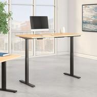 Bush Furniture Move 60 Series 60W x 30D Height Adjustable Table Standing Desk - M6S6030MRBK