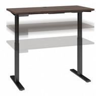 Move 60 Series by Bush Business Furniture 48W x 24D Height Adjustable Standing Desk Black Walnut - M6S4824BWBK