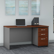 Bush Business Furniture Series C 60W X 30D Desk with Mobile File Cabinet Hansen Cherry - SRC144HRSU
