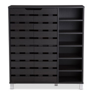 Wholesale Interiors Baxton Studio Shirley Modern 2-Door Shoe Cabinet - SR-002-Espresso
