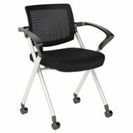 Bush Business Furniture Set of 2 Mesh Back Folding Chairs - FTR004BL