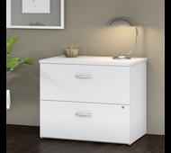 Bush Business Furniture 2 Drawer Lateral File Cabinet - Assembled - FTR005WHSU
