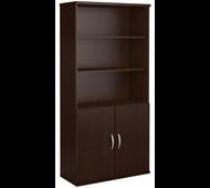 Bush Business Furniture 5 Shelf Bookcase with Doors - FTR009MR