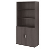 Bush Business Furniture 5 Shelf Bookcase with Doors - FTR009SG