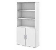 Bush Business Furniture 5 Shelf Bookcase with Doors - FTR009WH