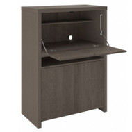 Bush Furniture Bristol Secretary Desk / Home Bar Cabinet Restored Gray - BRD135RT-03