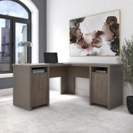 Bush Furniture Bristol  L Shaped Computer Desk with Storage Cabinets and Shelves Restored Gray - BRD160RT-03K