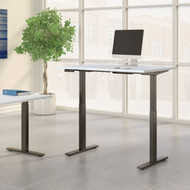 Move 60 Series by Bush Business Furniture 48W x 30D Height Adjustable Standing Desk White - M6S4830WHBK