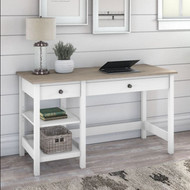 Bush Furniture Mayfield 54W Computer Desk with Shelves Shiplap Gray - MAD154GW2-03