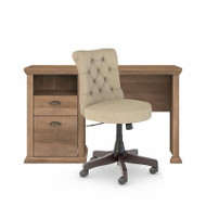 Bush Yorktown 50W Home Office Desk and Chair Set Reclaimed Pine - YRK014RCP