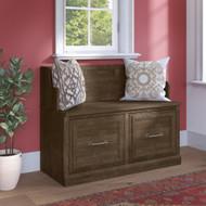 Kathy Ireland Bush Furniture Woodland 40W Entryway Bench Ash Brown - WDL005ABR