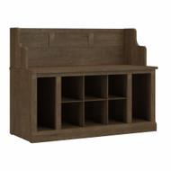 Kathy Ireland Bush Furniture Woodland 40W Entryway Bench Ash Brown - WDL006ABR