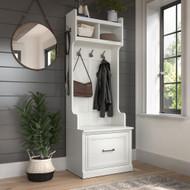 Kathy Ireland Bush Furniture Woodland 24W Hall Tree and Small Shoe Bench White Ash - WDL007WAS