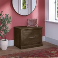 Kathy Ireland Bush Furniture Woodland 24W Small Shoe Bench Ash Brown - WDS124ABR-03