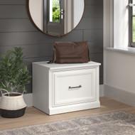 Kathy Ireland Bush Furniture Woodland 24W Small Shoe Bench White Ash - WDS124WAS-03