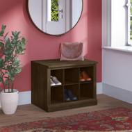 Kathy Ireland Bush Furniture Woodland 24W Small Shoe Bench Ash Brown - WDS224ABR-03