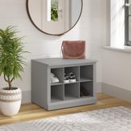Kathy Ireland Bush Furniture Woodland 24W Small Shoe Bench Cape Cod Gray - WDS224CG-03