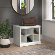 Kathy Ireland Bush Furniture Woodland 24W Small Shoe Bench White Ash - WDS224WAS-03