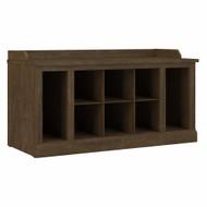 Kathy Ireland Bush Furniture Woodland 40W Shoe Storage Bench Ash Brown - WDS240ABR-03