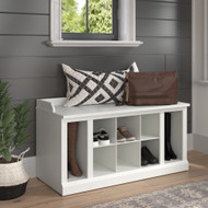 Kathy Ireland Bush Furniture Woodland 40W Shoe Storage Bench White Ash - WDS240WAS-03