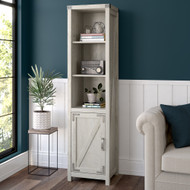 Kathy Ireland Bush Furniture Cottage Grove Tall Narrow 5 Shelf Bookcase Cottage White - CGB118CWH-03
