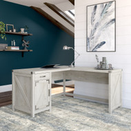 Kathy Ireland Bush Furniture Cottage Grove 60W L Shaped Desk  Cottage White - CGD160CWH-03