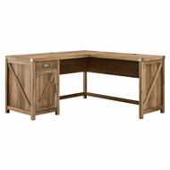 Kathy Ireland Bush Furniture Cottage Grove 60W L Shaped Desk Reclaimed Pine - CGD160RCP-03