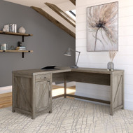 Kathy Ireland Bush Furniture Cottage Grove 60W L Shaped Desk Restored Gray - CGD160RTG-03