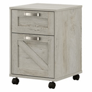 Kathy Ireland Bush Furniture Cottage Grove 2 Drawer Mobile File Cabinet Cottage White - CGF116CWH-03