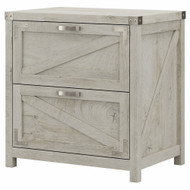 Kathy Ireland Bush Furniture Cottage Grove 2 Drawer Lateral File Cabinet Cottage White - CGF129CWH-03