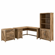 Kathy Ireland by Bush Furniture Cottage Grove 60W L Shaped Desk Package Reclaimed Pine - CGR005RCP