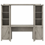 Kathy Ireland Home by Bush Furniture Cottage Grove 48W Farmhouse Writing Desk with Bookshelves in Cottage White - CGR010CWH