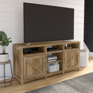 Kathy Ireland® Home by Bush Furniture Cottage Grove 65W Farmhouse TV Stand for 70 Inch TV in Reclaimed Pine - CGV165RCP-03